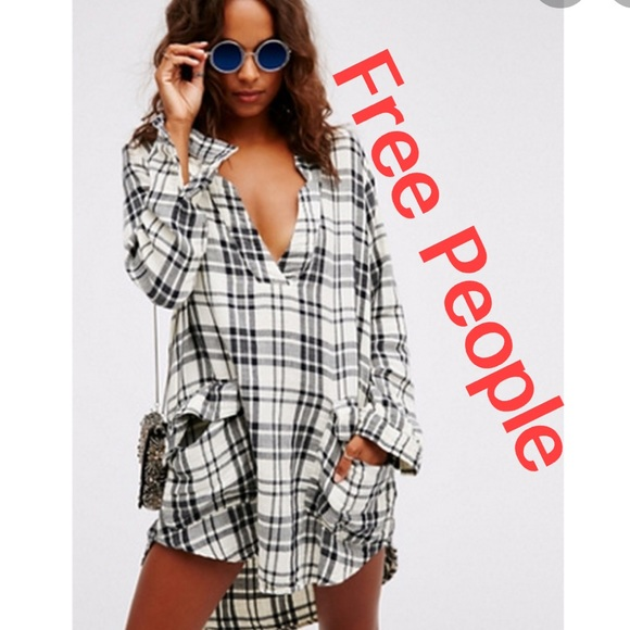 Free People Tops - Free People | CP Shades Plaid Checkmate Dress